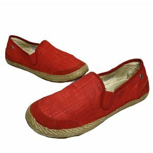 UGG | Womens Size 6.5 Delizah Espadrille Coral/Red